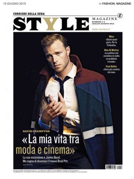 British actor model David Frampton by Letizia Ragno wearing Valentino front cover Style Italia magazine