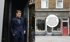 British actor model David Frampton interview feature for Article magazine
