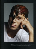 British actor model David Frampton I.D. magazine wearing Jill Sander