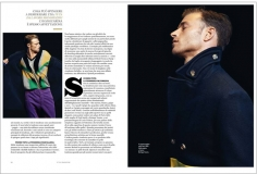 British actor model David Frampton by Letizia Ragno wearing Bottega Veneta for interview feature Style Italia magazine