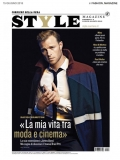 British actor model David Frampton by Letizia Ragno wearing Valentino front cover Style Italia magazine