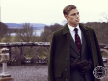 British actor model David Frampton Holland and Holland aw15 campaign