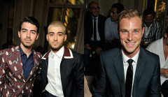 British Actor David Frampton Valentino ss16 front row