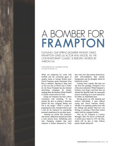 the fashionisto a bomber for frampton