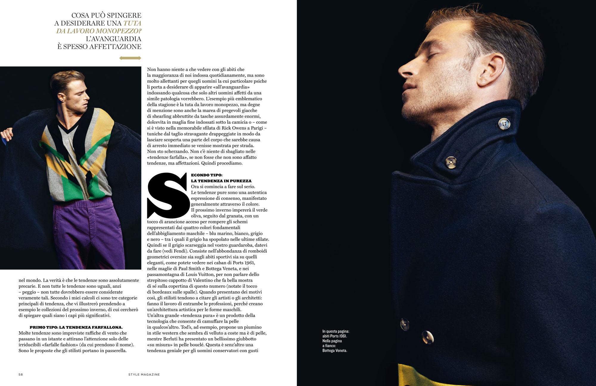 Style Italia - British actor David Frampton graces cover feature
